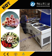 346 Double flat pan 110V ice cream roll machine thailand/fried ice cream roll machine mesin ais krim goreng 0086 13608681342