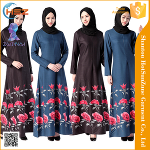 Zakiyyah 1047 Black Camilla Kaftan Islamic Abaya Turkey Embroidery Burqa Fashion Designs Jilbab Wholesale Malaysia 2017