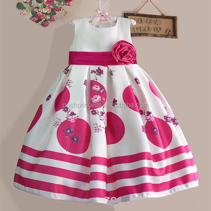 3 colores flor partido vestidos para niña de 8 años-Vestidos para ...