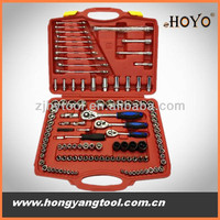 121 pcs auto mechanic tool set, socket spanner wrench