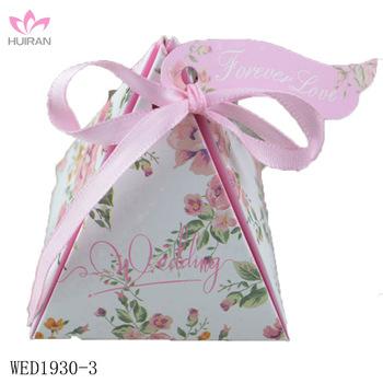 Pyramid Wedding Decorative Favors Candy Packaging Gift Boxes Candy Custom Decorative Candy Boxes