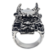 Hot Sale Style Stainless Steel Rings Animal Shape Silver Men's 3D Ring With Lion