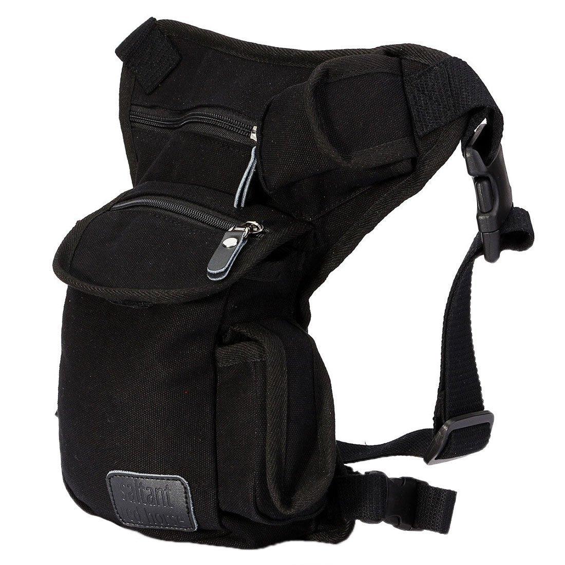 Multi-Purpose Leg Bag - TOOGOO(R)Outdoor Tactical Military Drop Leg Bag Panel Utility Waist Belt Pouch Hiking Bag black