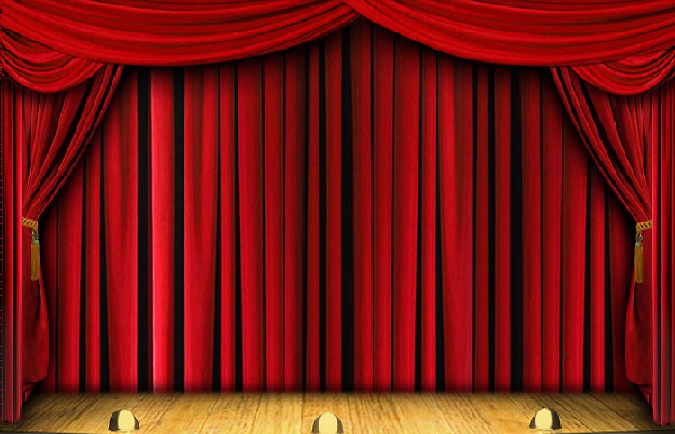 Electric Stage Curtains For Theatre Stage Curtain