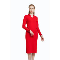 Dress women red woolen sweater designs for ladies with fashion style