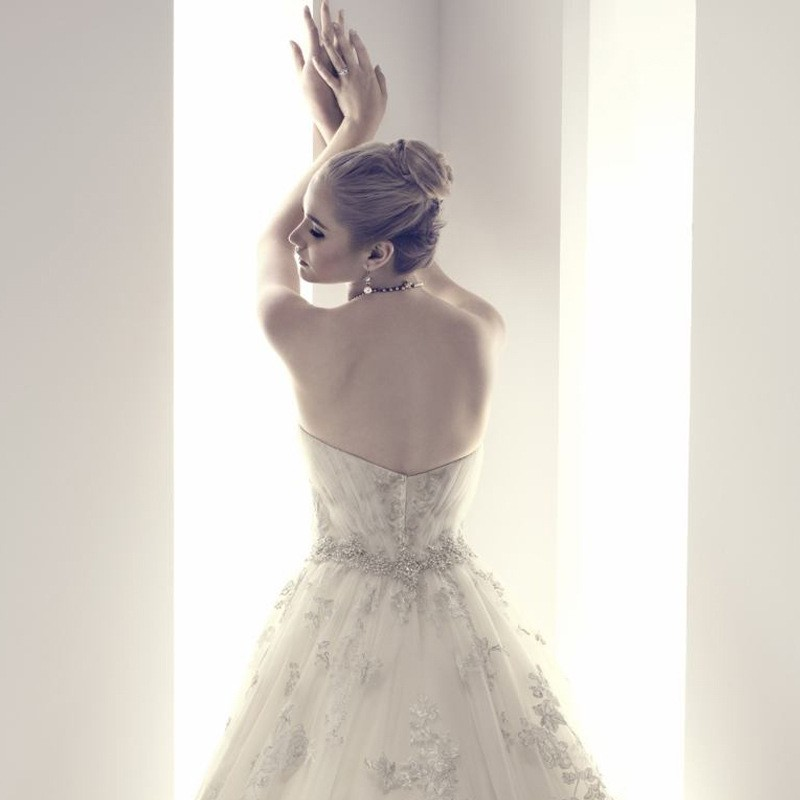 Real Romantic Ball Gown Ivory and Grey Applique Lace Wedding Dresses 2017 vestidos de noiva Puffy Bridal Gowns Custom Made BLW71 9
