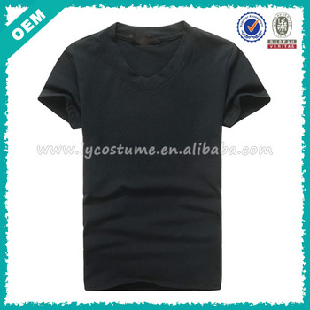 New! 2014 China Summer Cotton Mens V Shape Plain T Shirt (lyt ...