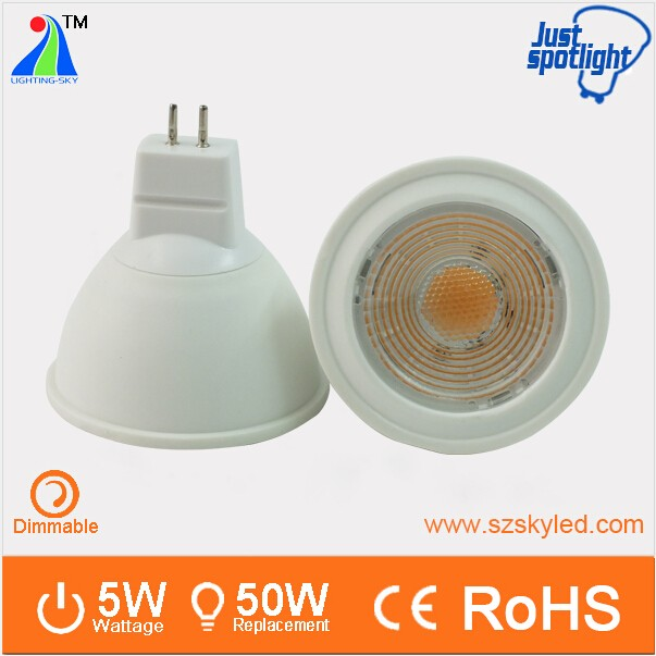 shenzhen light bulb led mr 16 12 v gu 5.3 base light spot led gu5.3 mr16 <strong>spotlight</strong>
