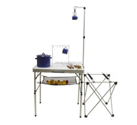 Great outdoor multi-use table - folds compactly -perfect for BBQ's & camp trips!
