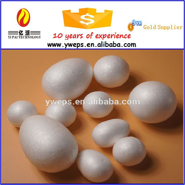 2016 EPS 100mm artifical foam solid eggs/polyfoam fake eggs