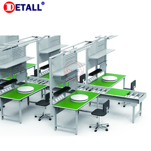 Detall- roller table conveyor for factory workshop used