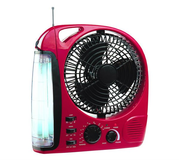 Rechargeable Electrical Fan With Light And Radio Buy