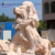 New product outdoor garden animal statue roaring marble lion statue NTBA-093Y