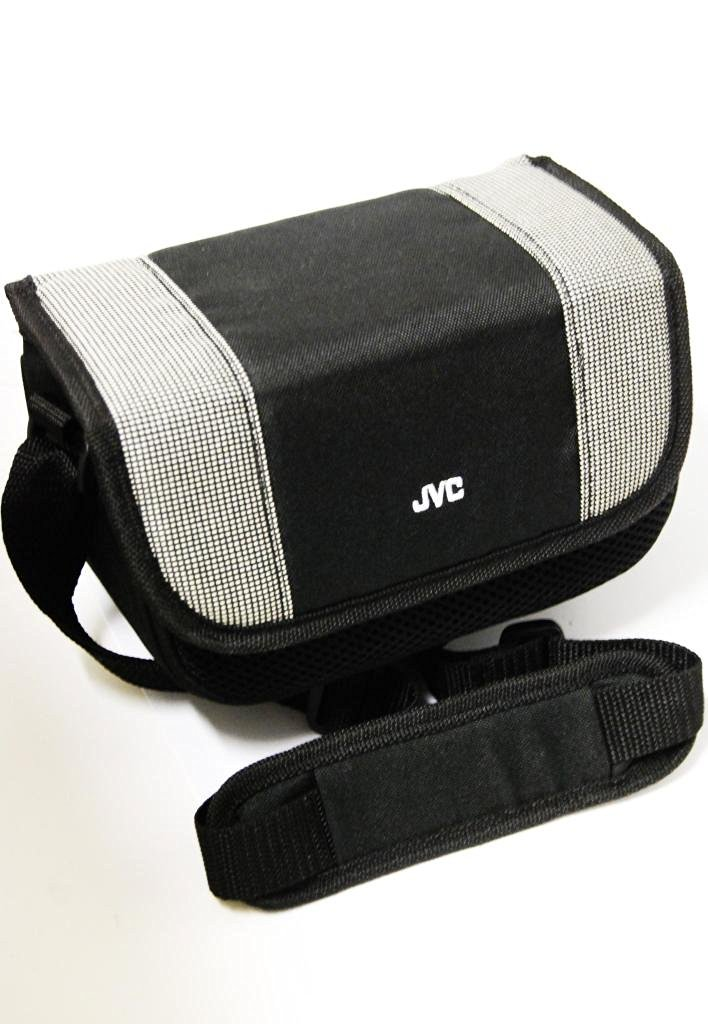 JVC Extra Protection Multi Padded Soft Compact Premium Travel Camcorder Bag / Carrying Case with Custom Fit Adjustable Insert, Shoulder Strap & Accessory Compartments For the JVC Everio GZ-MG130 - GZ-MG230 - GZ-MG330 - GZ-MG630 - GZ-MG730 Hard Disk Drive HDD Digital Media Camcorder