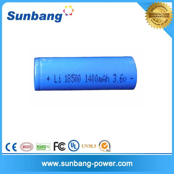 CE FCC MSDS approved 18500 lithium battery 3.7v 1300mah 3000mAh 18500 li-ion battery packs