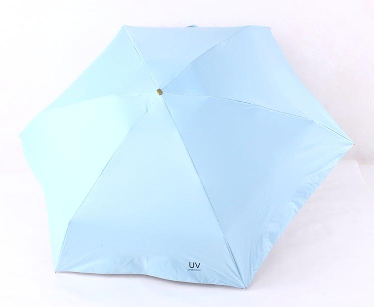 8af478a40f1d 5 Folding UV Protection Umbrella Rain Women Men Parasol 198g Super Light  Small Pockets Umbrellas 6K Manual Umbrella Paraguas - us411