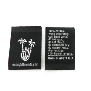 garment woven label fashion brand name for crafts cloth accessories labels