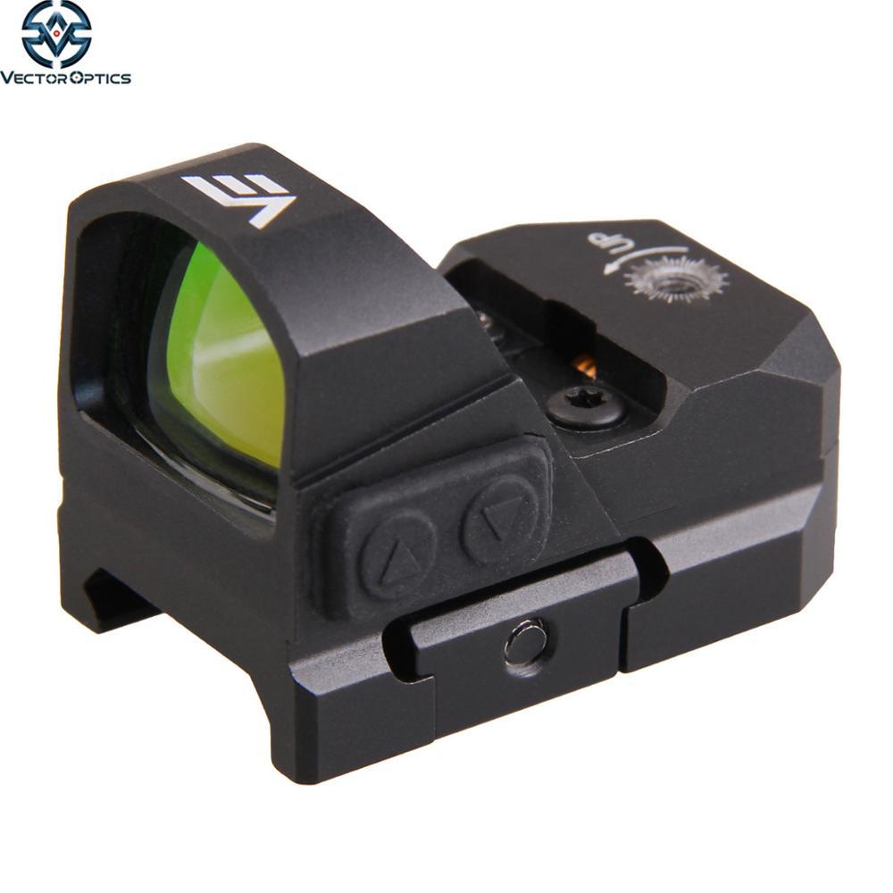 20000-Hour Vector Optics Frenzy Waterproof AR15 12GA Glock 9mm Pistol Mini 3 MOA Red Dot Reflex Sight with Night Vision