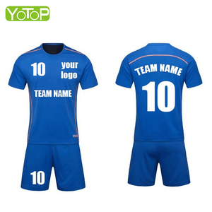 Custom-made in China factory Kids Children France Soccer Team Jersey Sets Football Wear Uniform Clothing
