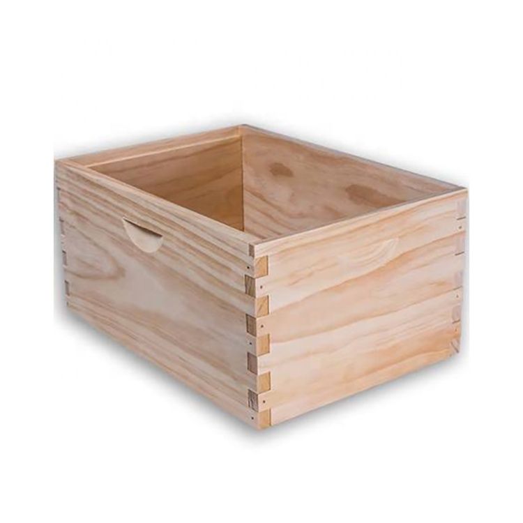 F&amp;H Biz Glossy Lamination Printing Handling <strong>Wood</strong> Material finger connection wooden crate box