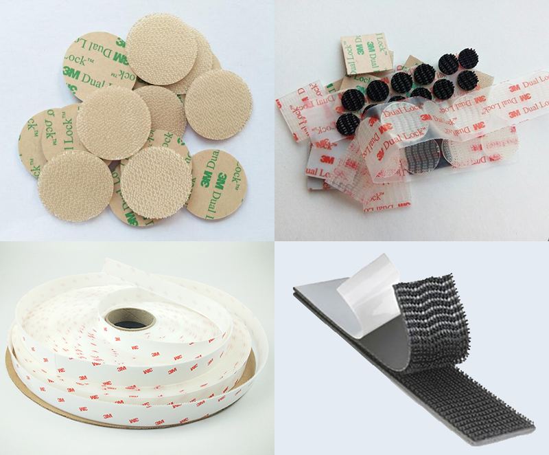 Richeng Company Hot Sell 3M SJ3550 Dual Lock Backing Acrylic Adhesive Reclosable Fastener Sheet, Die Cut Round