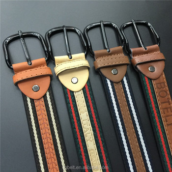 in stock stripe Canvas pu belt younger Factory direct sale Pin buckle belts Men's fashion belt wholesale belts for men Hot