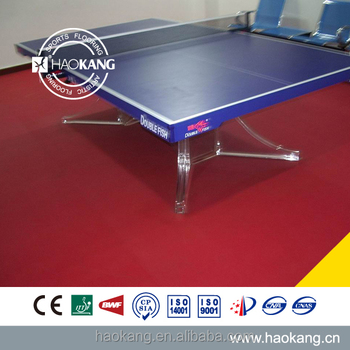 Durable soundproof vinyl table tennis flooring for sports court