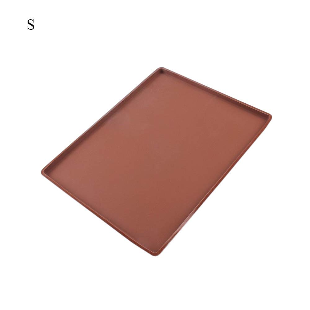 GerTong 1PCS Non-Stick Silicone Flexible Baking Mat Swiss Roll Baking Sheet Pad Large Size for Cake Cookie Pizza Macaron Kitchen Supply size S