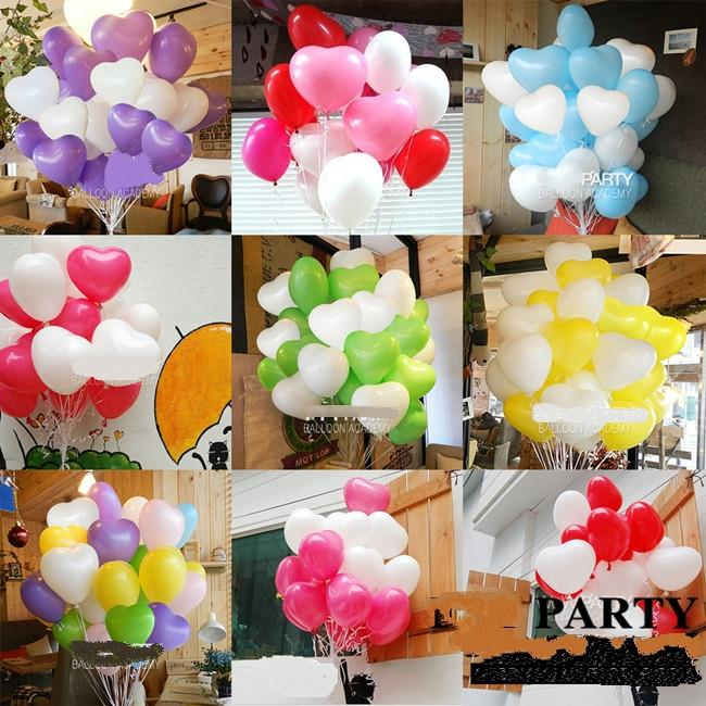 Heart shaped balloons 7inch 100pc lot 75g pack wedding balloons Multi color balloons party supplies