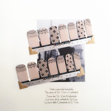 Brown Simple Fresh Nail Arts Sticker 14 pcs set Waterproof Nail Decal Art Sticker Gel Polish