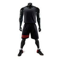 High quality philippine design black reversible jersey basketball