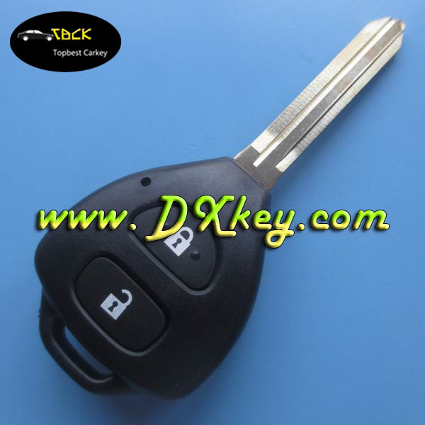 Best Price 2 Buttton car remote keyy with 433Mhz 4D67 chip for toyota Carola key toyota 433mhz remotes