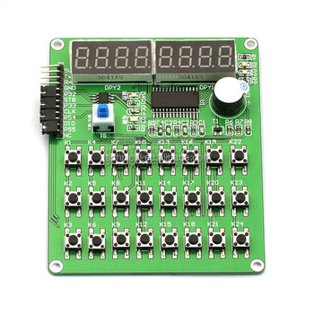 TM1638 Digital Display Development Board 24 Keyboard Scan STC Serial Port  Control Professional Display Control Module, View Development Board, New