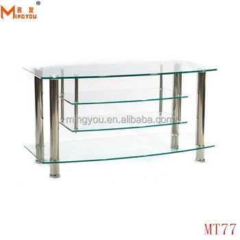 Techcraft 42 Inch Wide Flat Panel Tv Stand Clear Glass Buy Tv