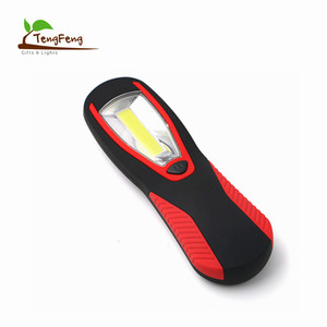 Anti-Slip Soft Rubber Handle AAA Battery Powered Magnetic COB Led Working Flash Light