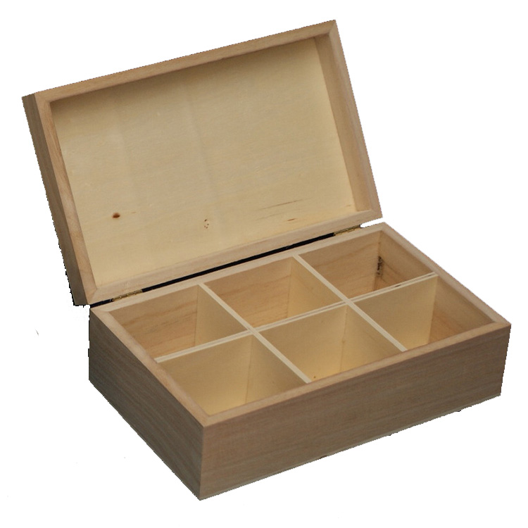 high-end wooden tea box with glass top, vintage color tea box