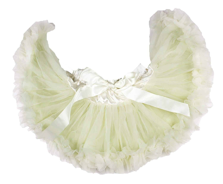 Plain Yellow Newborn Baby Pettiskirt Skirt Tutu Dress Girl Clothing Nb-12m