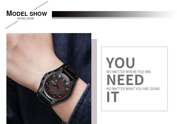 CURREN 8225 Men High Quality Japan Quartz Movement Hand Watch Waterproof Alloy Analog Men's Wrist Watches