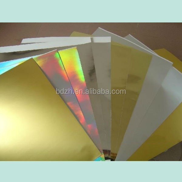 Decorating Holographic Laminated Laser Paper Packing Sheet