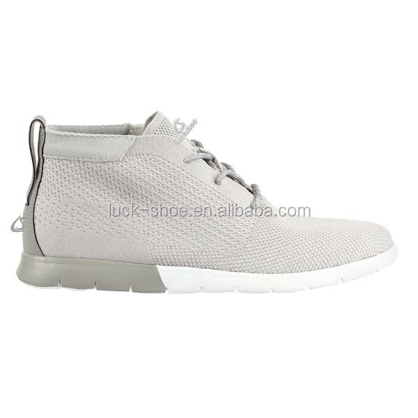knit 3d up high sneakers top lace sneakers Men popular shoes fashion casual Nylon flat Men's HOqO45