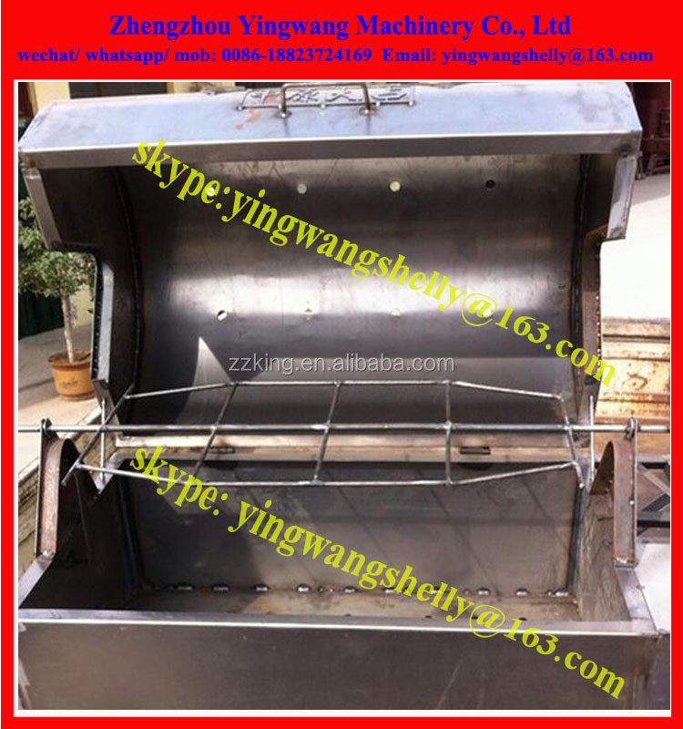 Multifunctional Rotary chicken ribs grill oven Roasted Whole Lamb grill