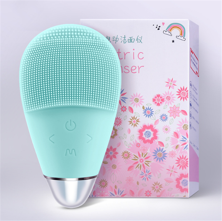 Blackhead acne clean face brush electric sonic Ultrasonic electric silicone facial brush