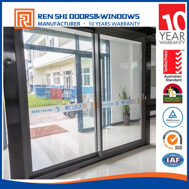 As2047 Standard Anti Noise Aluminum Stained Glass Sliding Doors