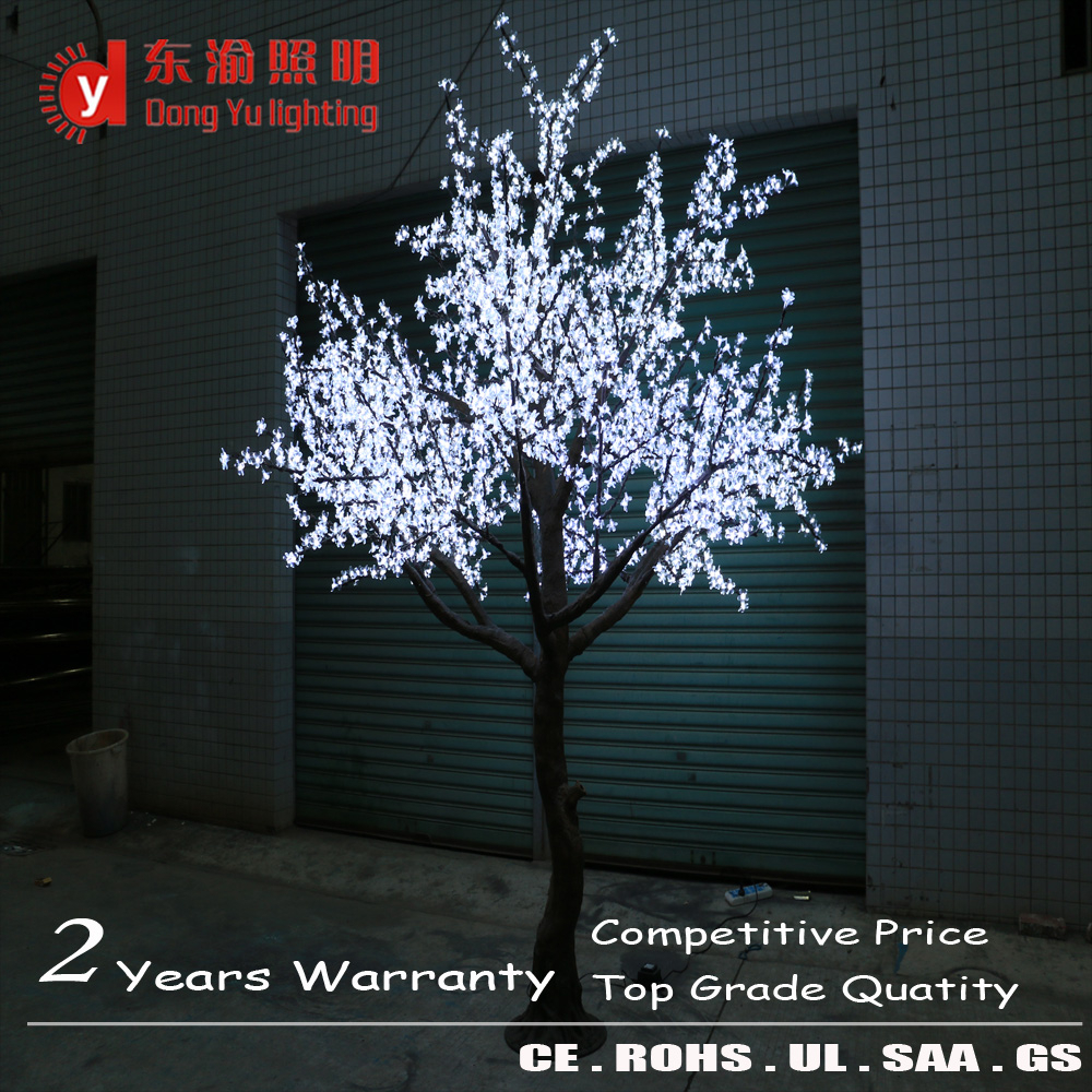 Decorations Large Middle Small Size Lighted Up Cherry Tree Led Light Blossom Branches Whole View White Branch