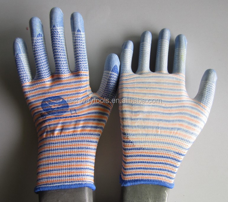 Wholesale Gray Nylon Nitrile Coated Working Gloves manufacturer