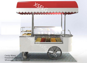 popsicles carts/ popsicles trolley /stick popsicles display freezers(CE approved)