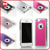 New Arrive Luxury Crystal Brushed Aluminium Chrome Bling Diamond Case for iphone 5c