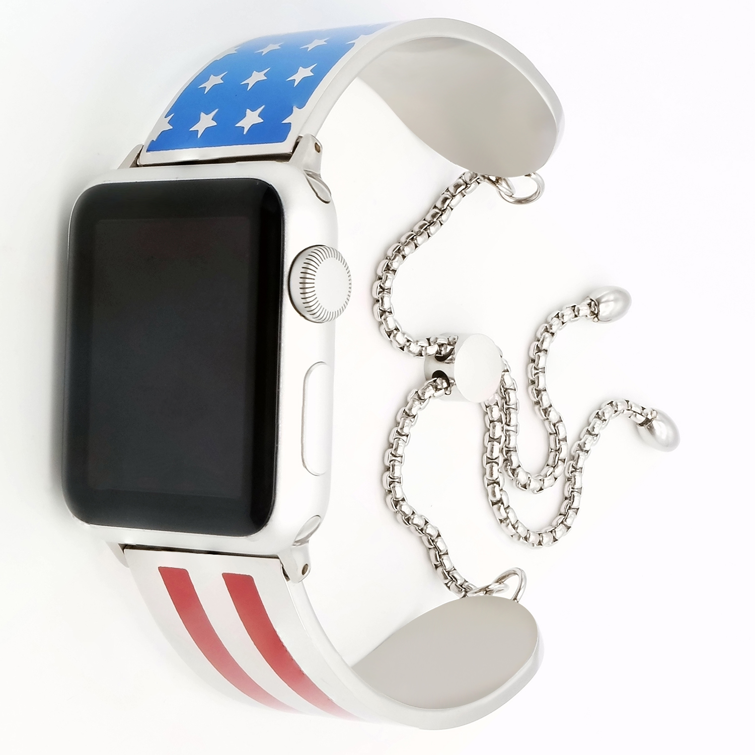 WINWIN Factory USA Flag steel iWatch Wristband for Apple Watch Band 42mm 38mm фото