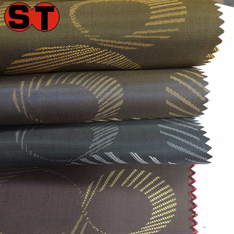 Outlet stock poly viscose blended fabric poly rayon jacquard T/R viscose lining fabric flower butterfly dobby fabric