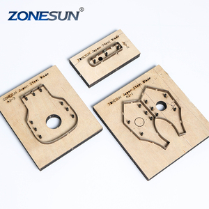 ZONESUN D110 Customized leather cutting die laser punch photo paper PVC/EVA sheet cutter mold DIY key ring knife die key cover